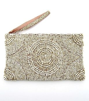 ✔ beaded clutch (love the circles)