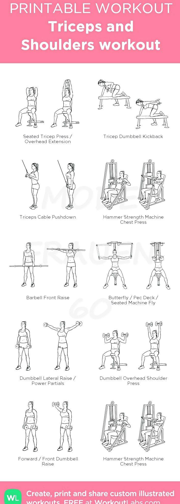 Trizeps- und Schulter-Workout: Mein visuelles Workout, das bei WorkoutLabs.com erstellt wurde. • Klicken Sie bis