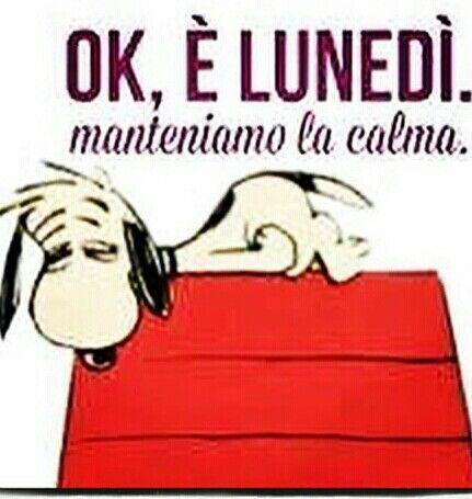 Snoopy lunedì