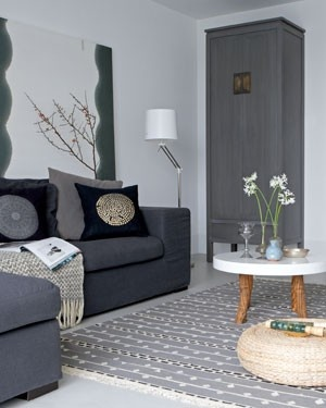 Leuk grijs interieur