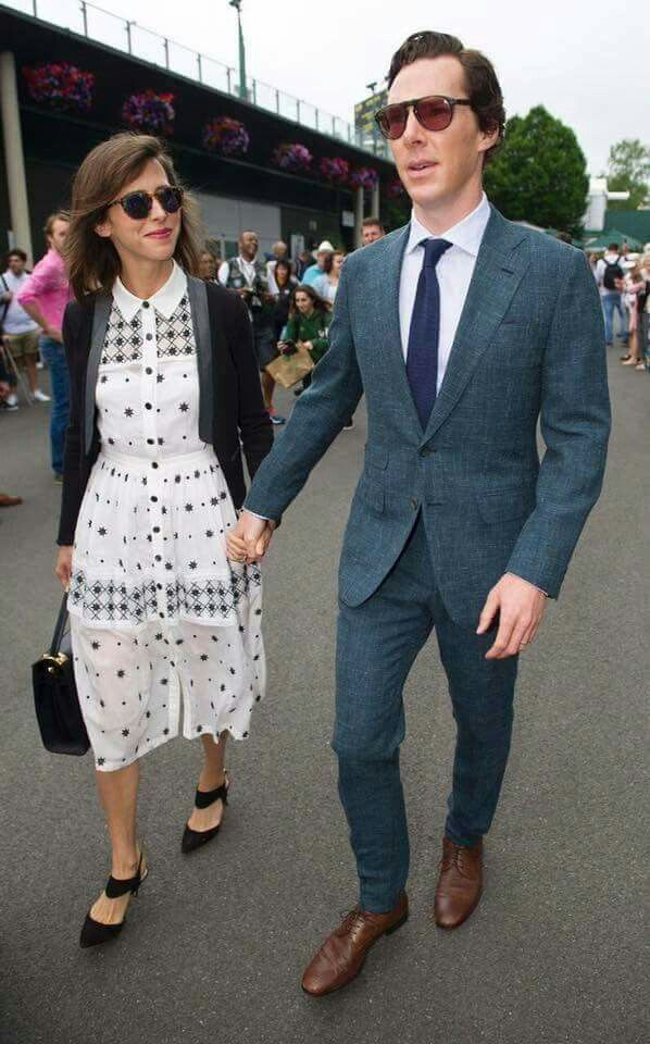 Benedict Cumberbatch and wife Sophie Hunter made a dapper duo on the final  day of the sporting event