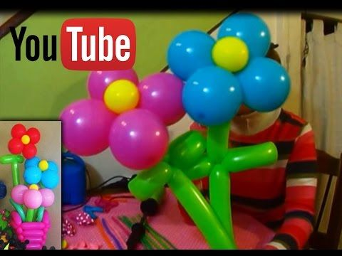 como hacer flores en globos muy faciles flowers with balloons youtube