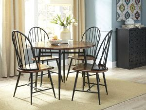 Signature Design By Ashley Shanilee Black/Brown Round Dining Room Table    Overstock™ Shopping   Great Deals On Signature Design By Ashley Dining  Tables