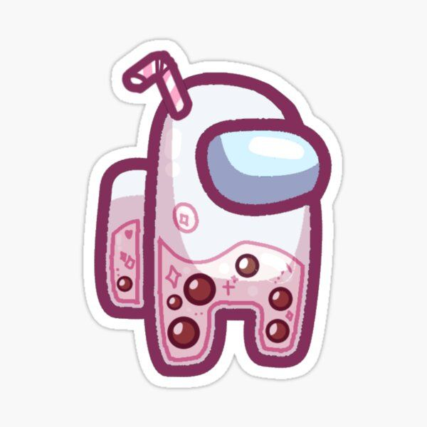 Pink Among Us Sticker By Pink Saturn In 2021 Cute Patterns Wallpaper Cute Stickers Cute Kawaii Drawings