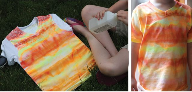 Try these fun Sharpie #shirts! #summer #crafts for #kids