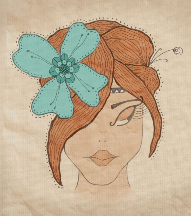 #illustration. Hand drawn and coloured in photoshop