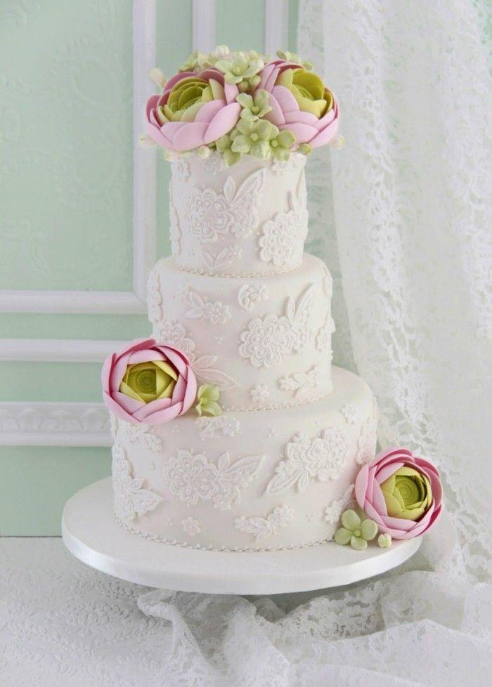 Die besten 25 hochzeitstorte dekorieren ideen auf pinterest geburtstag kuchen dekorieren - Hochzeitstorte dekorieren ...