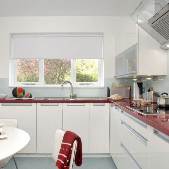 Red And White Kitchen Cabinets Impressive Inspiration