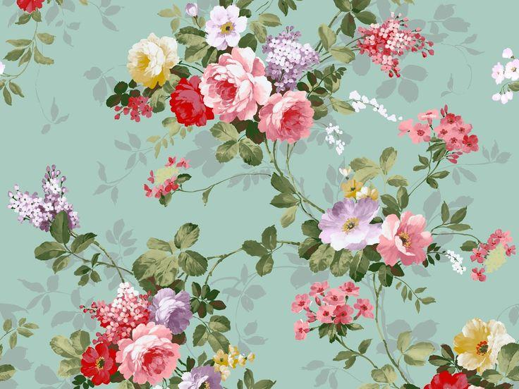 Vintage floral pattern desktop wallpaper - photo#11