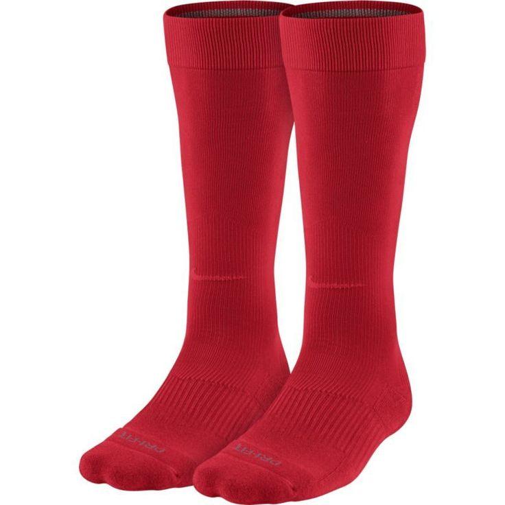 Nike Over-the-Calf Baseball Socks 2 Pack, Size: Large, Red