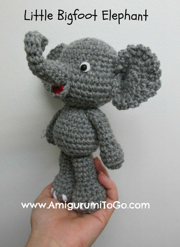 Amigurumi To Go: Cute Elephant Video Tutorial In The Works. thanks so for share xox