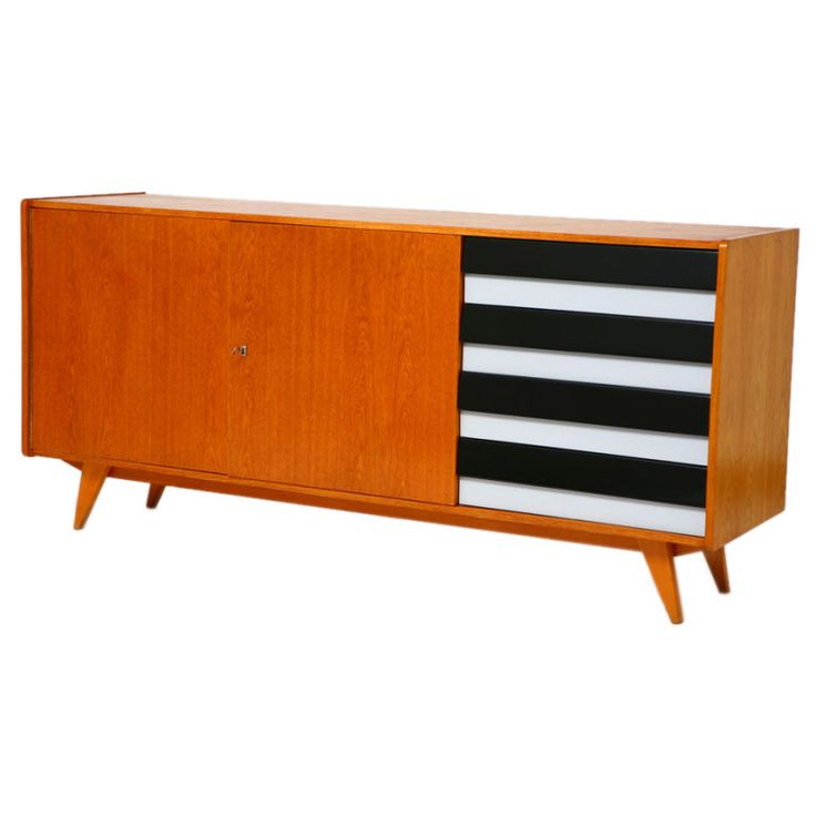 Czech mid-century credenza - sideboard (with four drawers). $3750