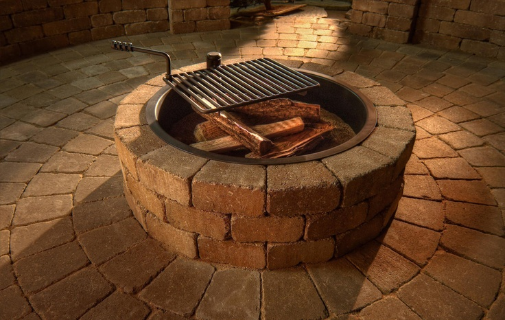100 best images about deck bbq area on pinterest fire for Do it yourself fire pit designs
