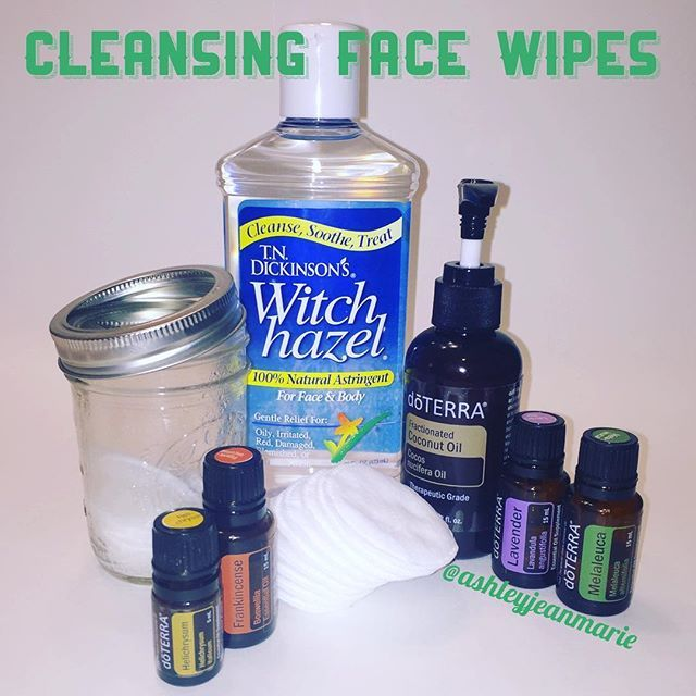 I absolutely love using these cleansing face wipes. They are perfect for removing makeup at the end of the day or sweat after a workout. I have even used them to clean my hands in a pinch. I chose these 4 oils because they are known for skin health and rejuvenation, plus they smell great! You'll need: Glass jar Cosmetic cotton rounds 1/4 cup distilled water 3 TBS witch hazel 8 drops lavender 8 drops melaleuca 4 drops frankincense 3 drops helichrysum *1 tsp carrier oil optional Combine ...