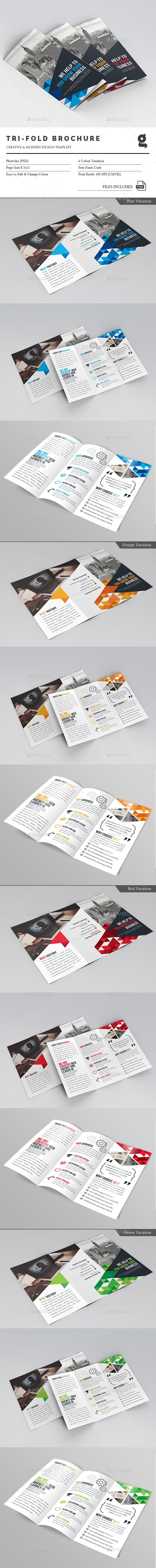 Business Tri-Fold Brochure Template PSD. Download here: http://graphicriver.net/item/business-trifold-brochure/16718510?ref=ksioks