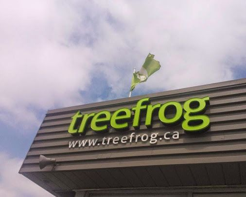 Our new office signage! Just in time for our Grand Opening tomorrow night! #GOTreefrog