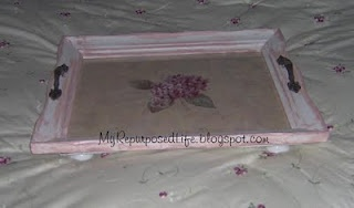 My Repurposed Life™: Picture frame serving tray