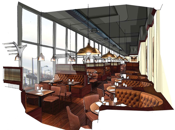 Goodman, Canary Wharf: A Interiors Sketch, Architecture Drawings, Goodmans Canary Wharf Visual 1, Architecture Illustrations, Interiors Design, Canary Wharf In, Goodman Canary Wharf Visual 1, Illustrations Sketch, Design Sketch