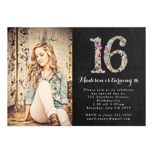 17 best Sweet 16 Invitations images on Pinterest 16th birthday