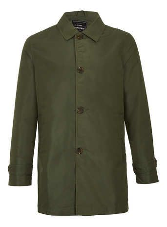 KHAKI SINGLE BREASTED TRENCH COAT - New In