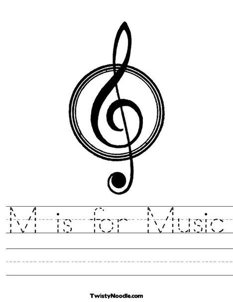 Easy music worksheets for kindergarten music theory for Music coloring pages for kindergarten