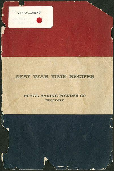 Best war time recipes (1918)