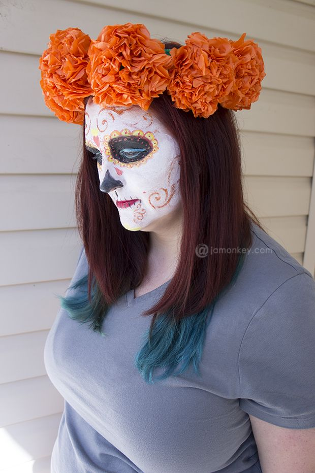 79 best holiday day of the dead images on pinterest for Flower heads for crafts