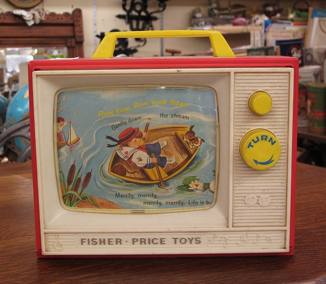 Vintage Fisher Price TV 1960s by hmdavid, via Flickr