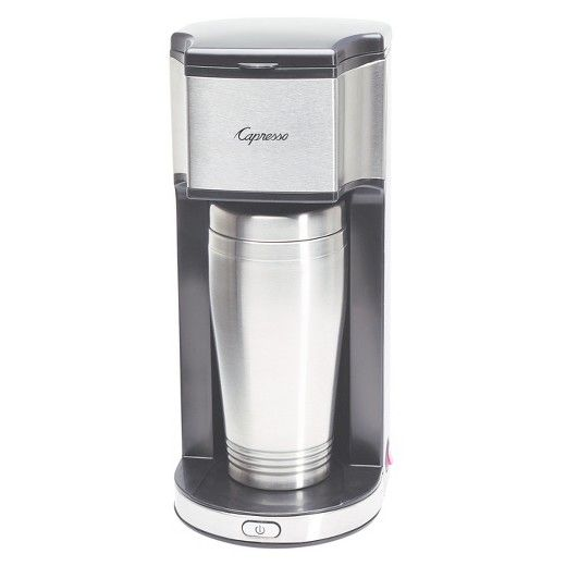 Capresso Coffee Maker On-The-Go Personal Coffee Maker Stainless Steel 425.05 : Target