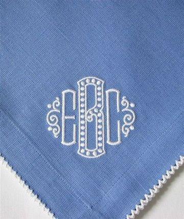 Such a fun monogram for a napkin!