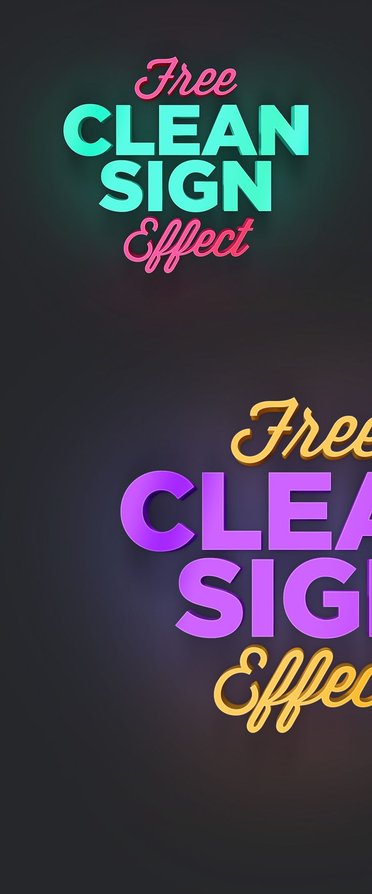 Turn Any Texts Symbols Or Logos Into A Modern Depth Dimensional Display With This Free Clean Sign Photoshop Effect Effects Available In PSD