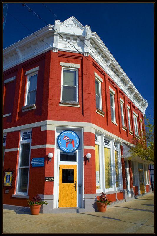 Sweden in America -- current City Hall in Lindsborg, Kansas, built 1886 (originally a bank)