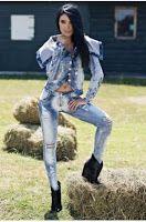 Jeans PUSH-UP prespalat de dama marca FOGGI