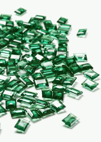 Emerald Acrylic Emerald Cut Gemstones | Jamali Floral U0026 Garden Supplies
