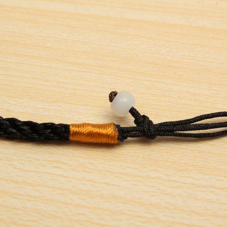 Black Obsidian Carved Dragon Pendant Necklace