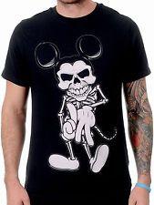 Puño De Hierro Para Hombre dtla T Camisa Esqueleto Mickey Nueva Temporada Medio Nuevo Con Etiquetas
