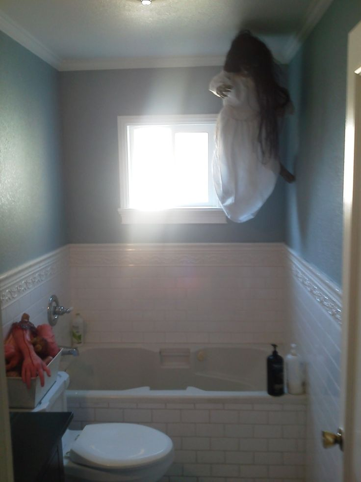 creepy girl floating in the shower my kids will never want to shower again halloween bathroom decorationshalloween - Halloween Bathroom Decorations