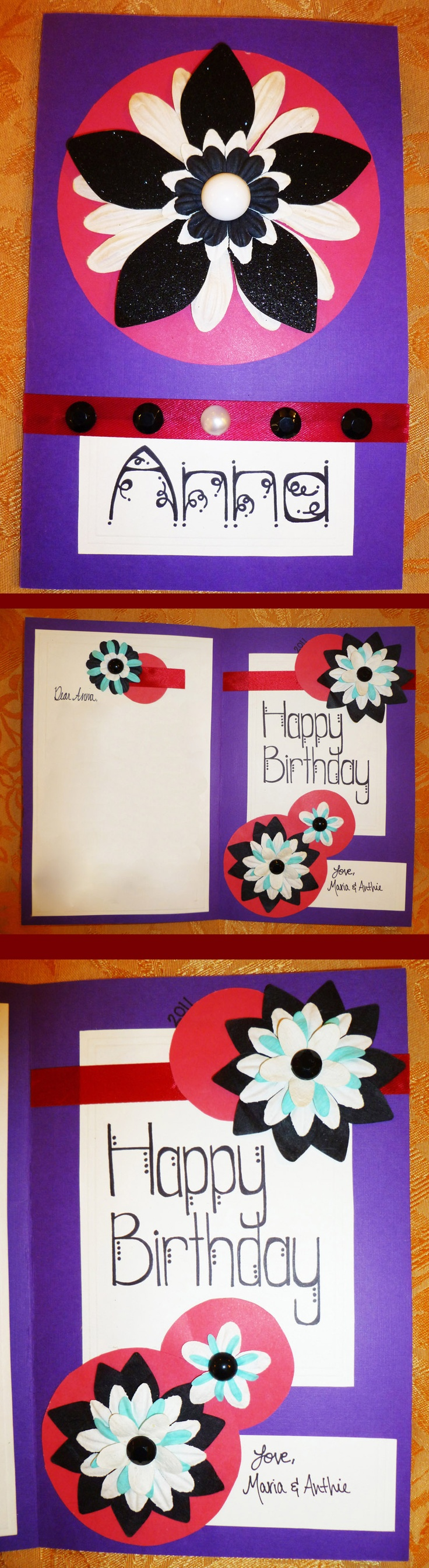 One of the first cards I made. I love the color combination and its simplicity.