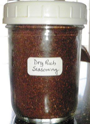 """Homemade Dry Rub Seasoning    Ingredients:    6 tablespoons brown sugar, tightly packed  2 tablespoons Kosher salt  1 tablespoon chili powder  1/2 teaspoon ground black pepper  1/2 teaspoon cayenne pepper  1/2 teaspoon thyme  1/2 teaspoon onion powder  1/2 teaspoon garlic powder    Directions:    Mix all ingredients in a small bowl until well combined.    Store in a """"labeled"""" airtight container in your pantry."""