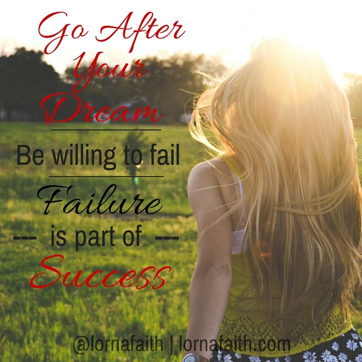 Accept mistakes and failure as normal...then turn it around. Be willing to fail forward♥