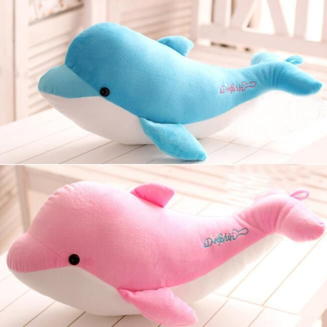 Giant Huge Dolphins Stuffed Animal Plush Soft Toy Pillow Sofa Cute