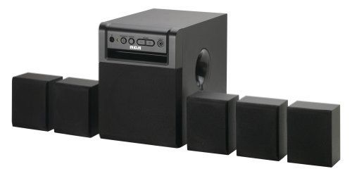 RCA RT151 Home Theater System by RCA. $59.99. You'll enjoy the deep bass and full sound of your music being played on the RT151 five-speaker home theater system by RCA. The 80 Watt surround sound system is compatible with DVD/CD players, computer and game consoles, satellite and cable boxes, and several TVs that have an audio output. Connect your iPod and other portable audio players using the line-in audio jack located in the front of the unit. The RT151 syste...