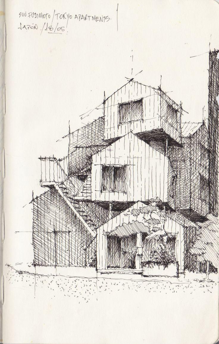 Croquis - Apartamentos de Tokio, Fujimoto - por Facundo Alvarez