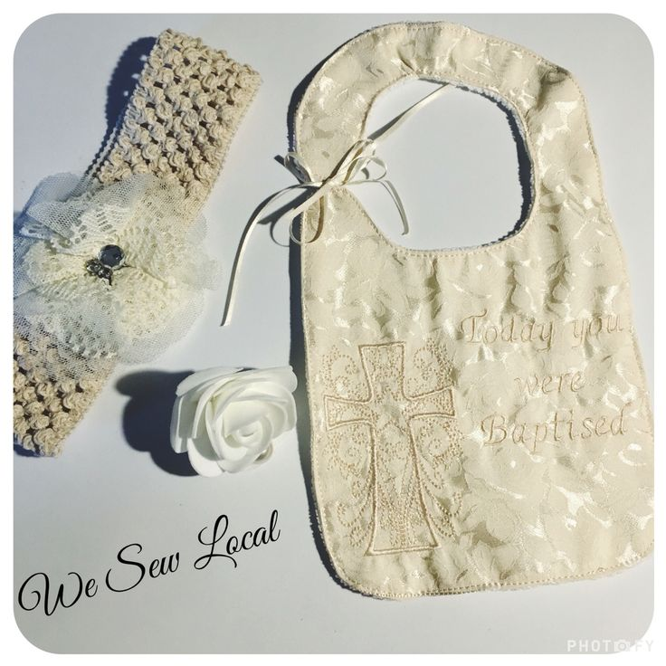 Baptism Bib, wording can be changed to suit, or could be made in a bib for a wedding. $12 -$17