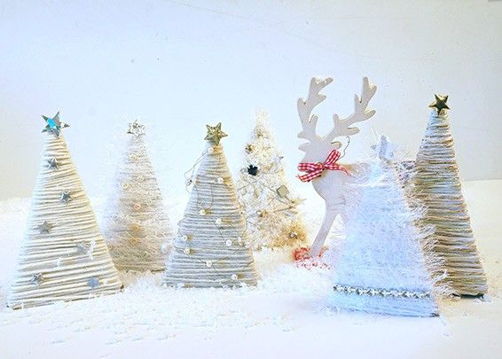 weissen tannenwald weihnachten dekorieren und basteln. Black Bedroom Furniture Sets. Home Design Ideas