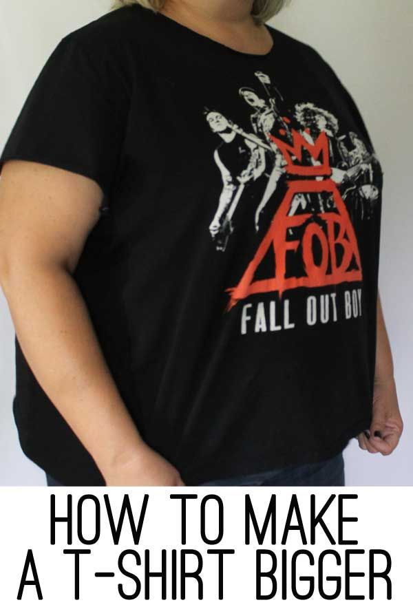 How to Make a T-Shirt Bigger (looks so easy!)