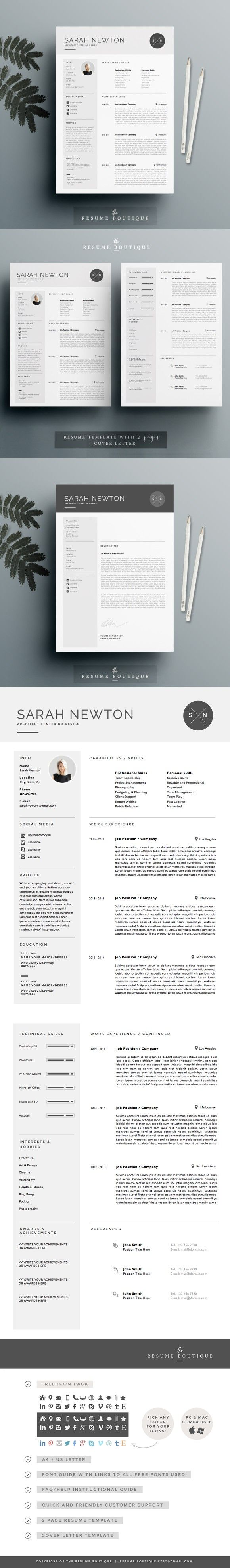 best images about resume design layout resume template 3page moonlight