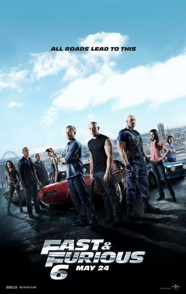 Find out 10 latest officially released posters of Justin Lins Fast and Furious 6 and recent news about release date 24 May 2013 worldwide and cast members