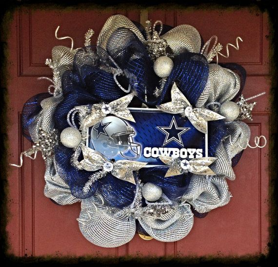 Dallas Cowboy Wreath - Deco Mesh ***NICE*** #prettyandpoofy