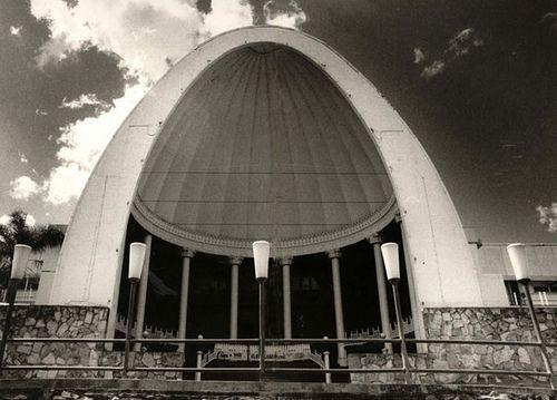 GRAND entrance ... The impressive and imposing exterior of the original Cloudland (circa 1960).